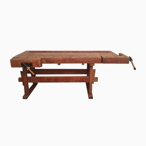 Antique Industrial Workbench