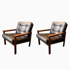 Mid-Century Rosewood Capella Chairs by Illum Wikkelso for Niels Eilersen, 1950s, Set of 2