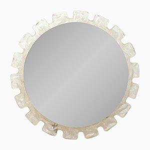 Specchio Mid-Century rotondo retroilluminato di Hillebrand, 1968