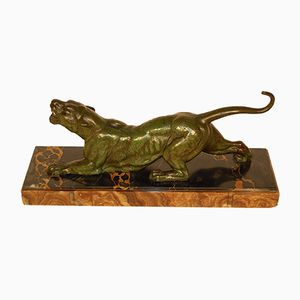 Vintage Panther Sculpture from Dh Chiparus