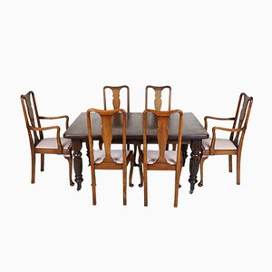 Victorian Mahogany Dining Table with 6 Chairs