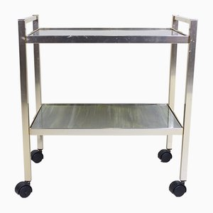 Vintage Bar Trolley in Faux Marble
