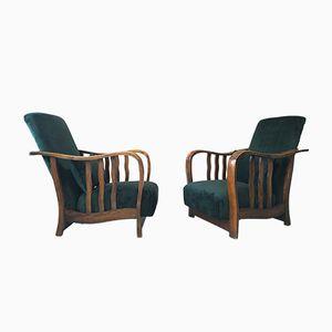 Vintage Art Deco Armchairs, 1970s, Set of 2
