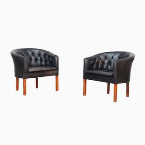 Danish Tufted Lounge Chairs, 1960s, Set of 2