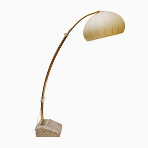 Lámpara de pie de arco de Hustadt Leuchten, años 70