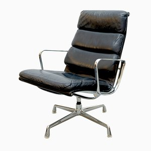Vintage EA 216 Softpad Black Lounge Chair by Charles & Ray Eames for Herman Miller