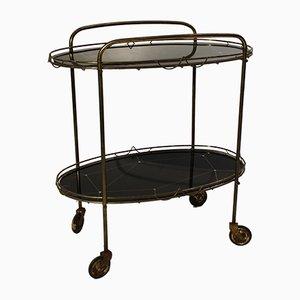 Mesa de latón con bandejas, años 30