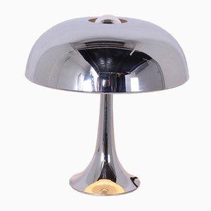 Lampe de Bureau Champignon Vintage en Chrome par Louis Kalff pour Philips