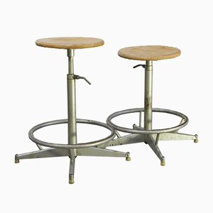 Vintage Swivel Stools, Set of 2