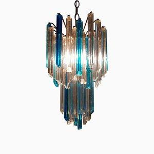Lámpara de araña Triedi vintage de cristal de Murano de Venini