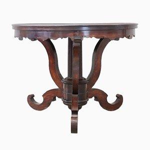Runder Tisch aus Nussholz, 1850er