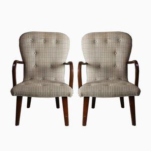 Dänische Mid-Century Beistellstühle, 1960er, 2er Set