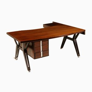 Vintage Italian Rosewood Tolomeo Desk by Ico Parisi for MIM, 1960s