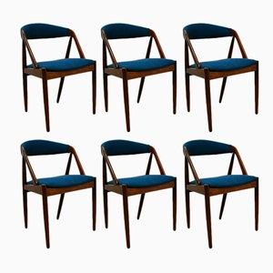 Modell 31 Esszimmerstühle von Kai Kristiansen für Schou Andersen, 1960er, 6er Set
