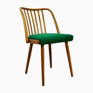 Sedie da pranzo verdi di Antonin Suman per Ton, anni '60, set di 4