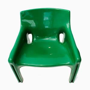 Green Vicario Armchair by Vico Magistretti for Artemide, 1970s