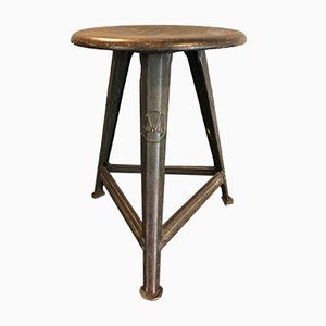 Vintage Industrial Tripod Stool by Robert Wagner for Rowac