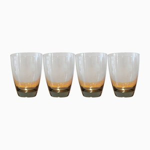 Copenhagen Tumbler Glasses by Per Lütken for Holmegaard, 1950s, Set of 4