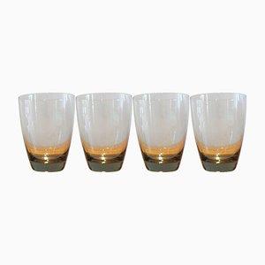 Copenhagen Tumbler Glasses by Per Lütken for Holmegaard, 1950s, Set of 4