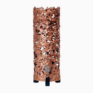 Lámpara de mesa brutalista de cobre, años 60