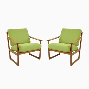 Lounge Chairs by Peter Hvidt & Orla Mølgaard-Nielsen for France & Søn, 1960s, Set of 2