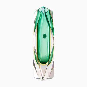 Jarrón italiano de cristal de Murano sumergido de Luigo Mandruzzato, años 60
