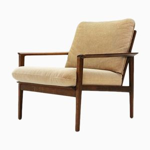 Mid-Century Walnut Easy Chair from Walter Knoll