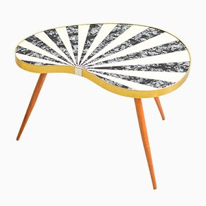 Mid-Century Kidney Table with Stripes, 1960s