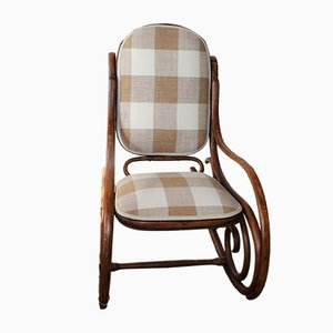 Rocking Chair Vintage en Bois Courbé