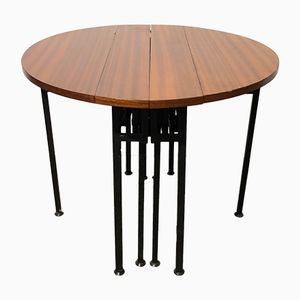 Accordion Extendable Dining Table, 1960s