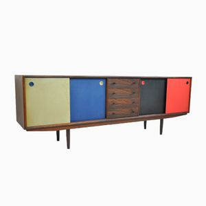 Danish Rosewood Sideboard with Reversible Doors, 1950s
