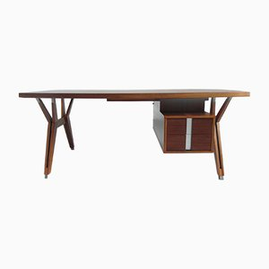 Terni Executive Desk in Walnut by Ico Parisi for MIM, 1958