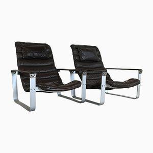 Pulkka Lounge Chairs by Ilmari Lappalainen for Asko, 1960s, Set of 2