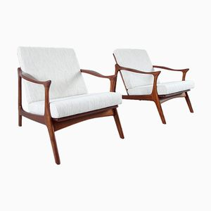 Danish Lounge Chairs by Arne Hovmand Olsen for Mogens Kold, 1954, Set of 2