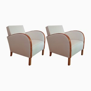 Club Chairs, 1920s, Set of 2