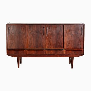 Rosewood Highboard by E.W. Bach, 1960s