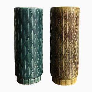Skandinavische Vasen von Gunnar Nylund für Rörstrand, 1960er, 2er Set