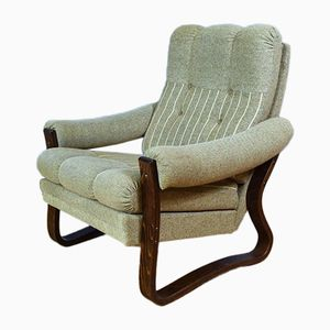 Swedish Bentwood Lounge Chair, 1970s