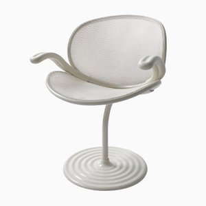 White O-Line Armchair by Herbert Ohl for Wilkhahn, 1982