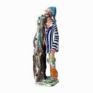 Italienische Keramikfigur von Marchese, 1950er