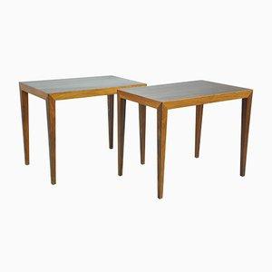Tavolini in palissandro di Severin Hansen per Haslev Møbelsnedkeri, anni '50, set di 2
