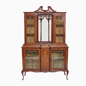 Mahogany Display Cabinet, 1910s