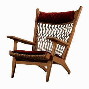 JH719 Halyard Stuhl aus Eiche von Hans Wegner für Johannes Hansen, 1960er