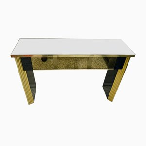Chromed Brass Console Table by Pierangelo Gallotti for Gallotti & Radice, 1970s