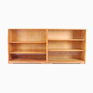 Mid-Century Adjustable Bookshelves, 1950s, Set of 2