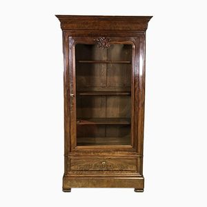 Librería Louis Philippe de caoba, siglo XIX