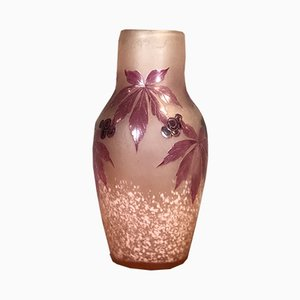 Antique Floral Vase by Legras