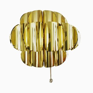 Lampada da parete in ottone di Thorsten Orrling per Temde, anni '60