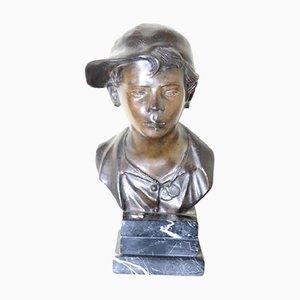 Bronzeskulptur auf einem Marmorsockel von Giovanni de Martino, 1885