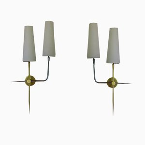 Double Sconces from Lunel, 1950s, Set of 2